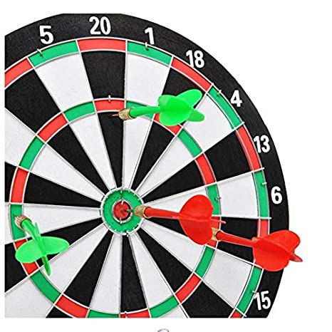 Buy Double Side Dart Board Game Size 12 Inches With 4 Free Darts