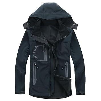 ZHEN Soft Shell Venture chaqueta oto?o e invierno terciopelo chaqueta al aire libre ropa deportiva