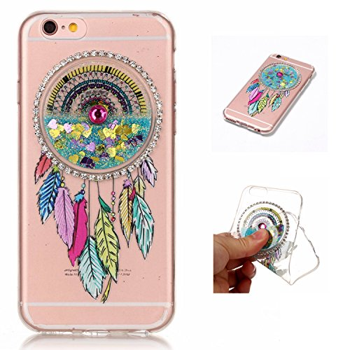 LuckyW Silicone Case for Apple iPhone 5 5S SE Phone Case Dreamcatcher Sandblasting Fluid [Scratch-resistant, dust-proof, shockproof, anti-fingerprint]-Azul claro Azul claro