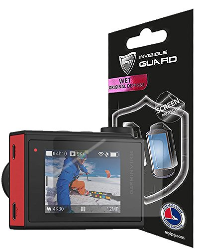 For Garmin Virb Ultra 30 Action Camera (2 units) Screen Protector with Lifetime Replacement Warranty Invisible Protective Screen Guard - HD Quality / Self-Healing / Bubble -Free By (Ipg Case)