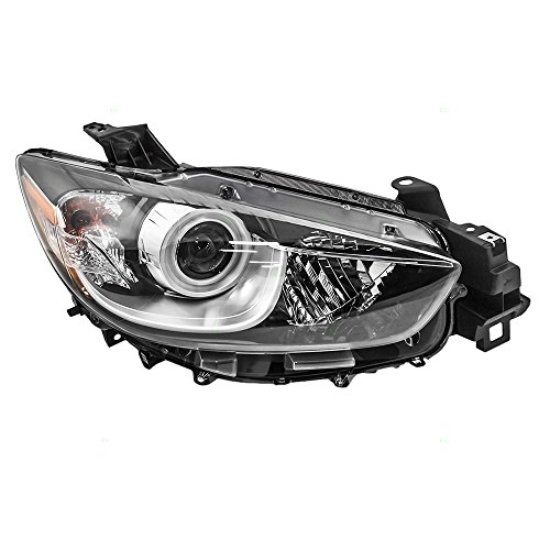 Passengers Halogen Headlight Headlamp Lens Replacement for Mazda SUV KJ01-51-031 AutoAndArt