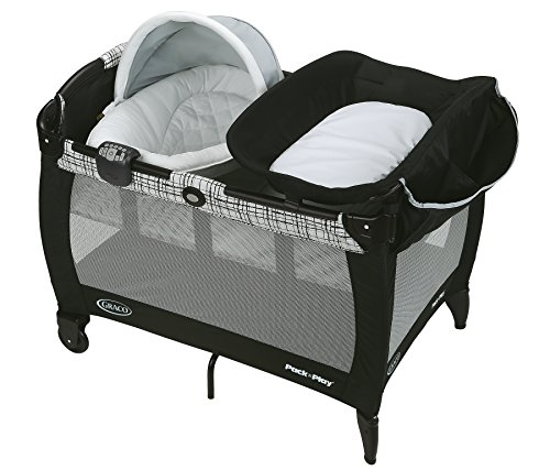Graco Pack 'n Play Newborn Napper Oasis with Soothe Surround Technology, Teigen