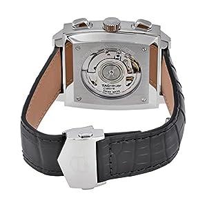 Tag Heuer CAW211N.FC6177 - Reloj de pulsera para hombre (cronógrafo automático, esfera negra de cuero), color negro 3