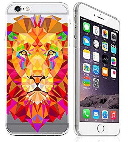 - iPhone 6 / 6s Compatible, Colorful Lion Pride Origami Jungle Lion King Predator Transparent Translucent Flexible Silicone Cover Case