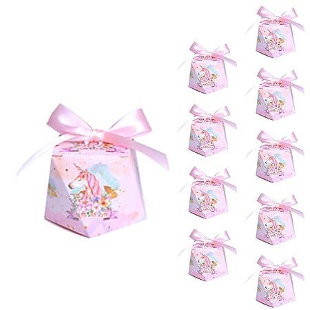 Cupcinu 10 Cajas Caramelo Unicornio con Cintas Cajas para ...