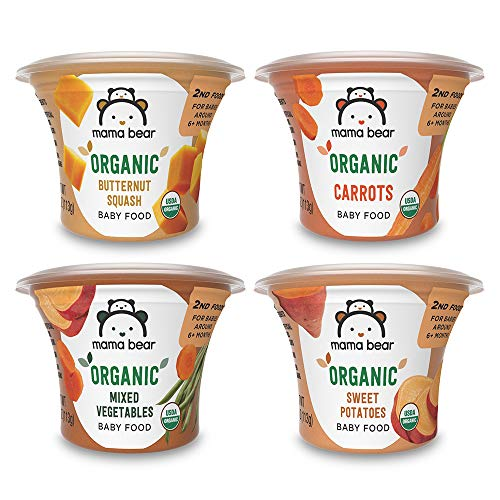 Mama Bear Organic Baby Food, Vegetable Variety Pack, 4 Ounce Tub, Pack of 12