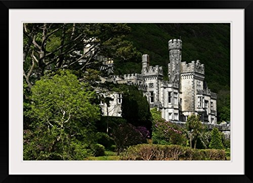 greatBIGcanvas Kylemore Abbey, Connemara, County Galway, Ireland by Peter Zoeller Photographic Print with Black Frame, 36