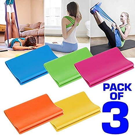 2m Exercise Resistance Band Stretch Pilates Yoga GYM Workout Physio Aerobics