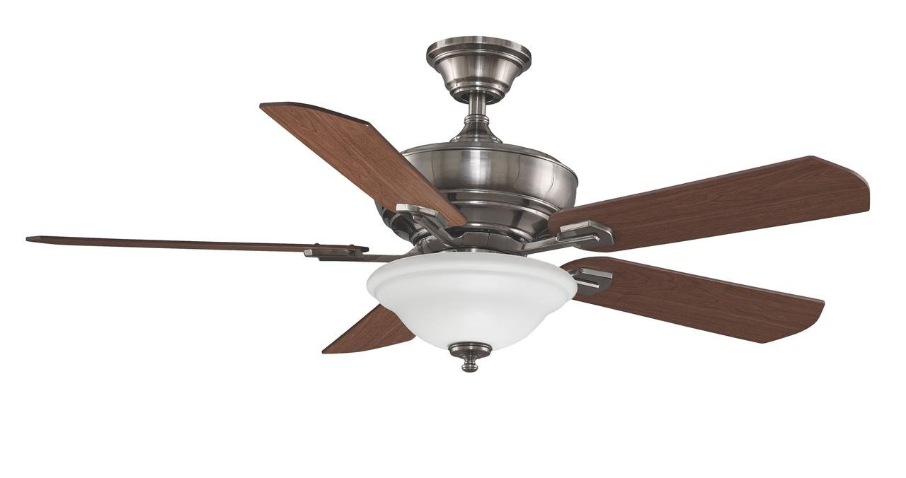 Fan With Light And Remote Part - 49: Fanimation Camhaven - 52 Inch - Pewter With Cherry/Walnut Reversible Blades With  Light Kit And Remote - FP8095PW - - Amazon.com