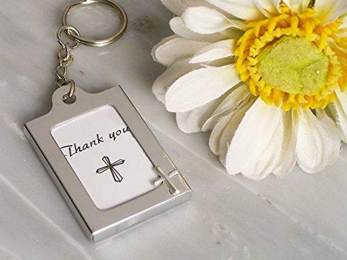 Memorable Moments Cross design Keychain Photo Frame Favors