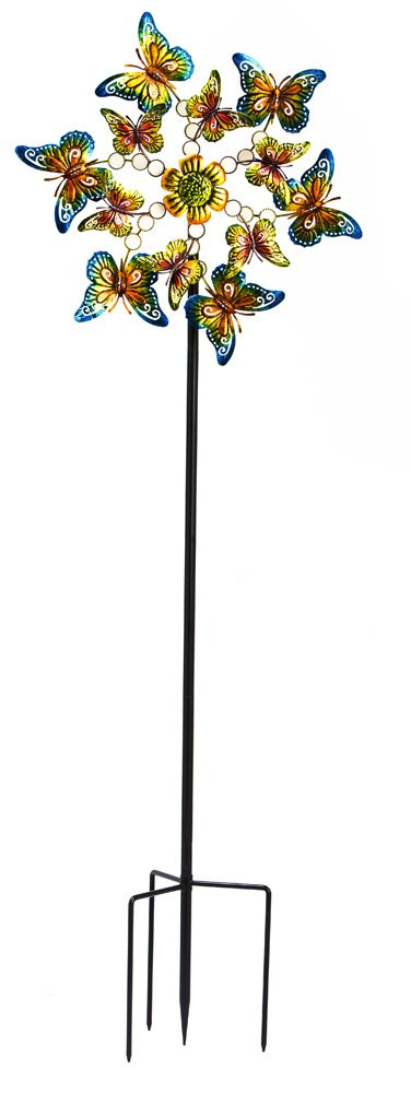 Evergreen Twirling Butterflies Kinetic Garden Stake