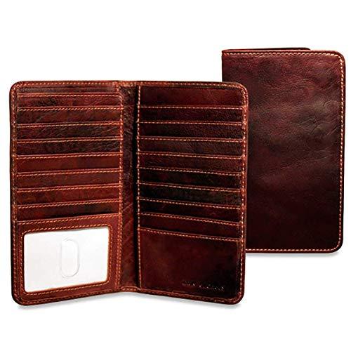Jack Georges Mens Voyager Slim Breast Secretary Wallet in - Wallet Mens Secretary Breast