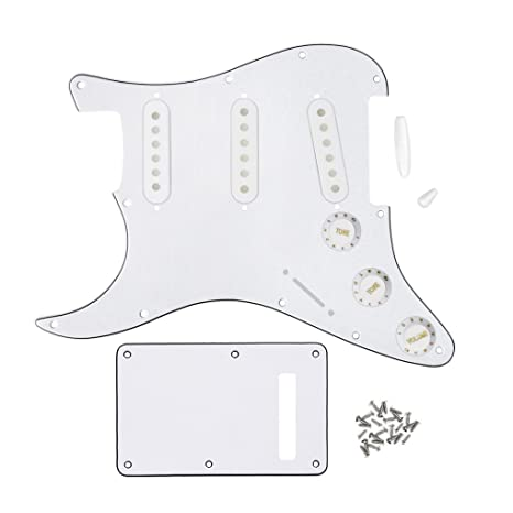 FLEOR Estilo SSS Left Handed Pickguard Placa trasera con 50mm 52mm (2pcs) Recogida Covers