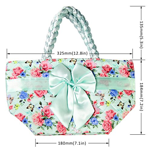 Del Almuerzo Flor 25 La Printing Mariposa mariposas Bolso Pattern De Bangkok Tailandia Ptb052 Pataya Lona Pqp800