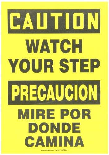 (Accuform SBMSTF661VS Adhesive Vinyl Spanish Bilingual Sign, Legend