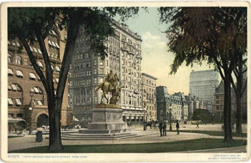 Fifth Avenue And 59th Street New York City, New York Original Vintage - Fifth 59 Avenue
