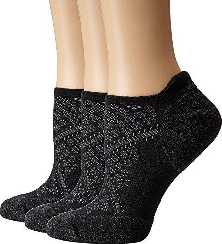 Smartwool Women's PhD Run Elite Micro 3-Pair Pack Black Socks LG (Women's Shoe 10-12.5)