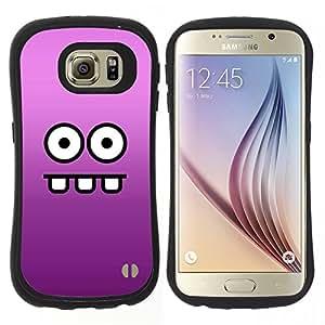 """Hypernova Slim Fit Dual Barniz Protector Caso Case Funda Para Samsung Galaxy S6 [Cara divertida""""]"""