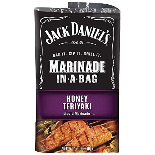 Jack Daniel's Marinade In-A-Bag, Honey Teriyaki, 12 Ounce (Pack of 5)