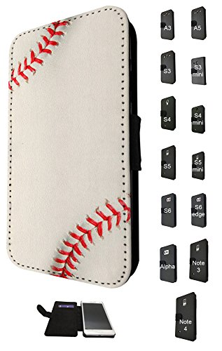 635 - Baseball Pattern Look Design Fashion Trend Credit Card Holder Purse Wallet Book Style Tpu Leather Flip Pouch Case Samsung Galaxy A5