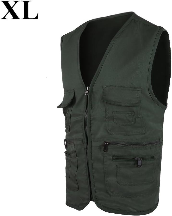 Dwawoo Angelweste Jacke Multi-Taschen Oberbekleidung Angelwesten Multifunktionale Outdoor Accessoires