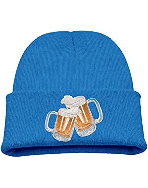 Beer Cheers Kid's Hats Winter Funny Soft Knit Beanie Cap, Unisex
