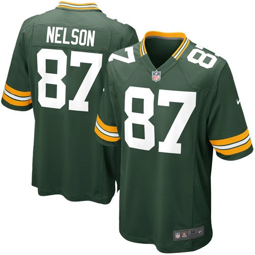 NIKE JORDY NELSON GREEN BAY PACKERS YOUTH GREEN TEAM COLOR GAME JERSEY (Youth ()