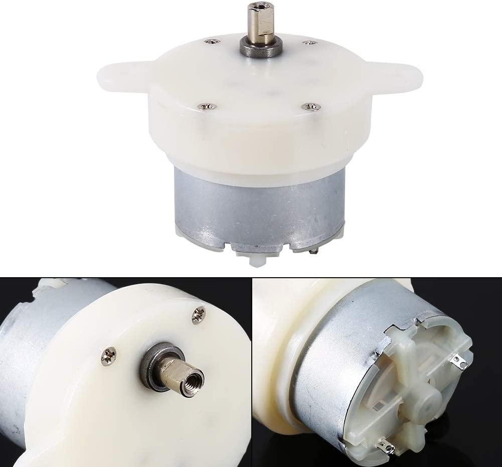 High Torque 12v DC Motor Slow Speed Electric Motor//Gearbox 3RPM 4mm Shaft Diameter Micro Motor Slow Speed Motor