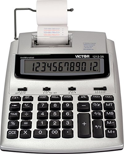 - Victor 1212-3A 12 Digit Commercial Printing Calculator with Built-In AntiMicrobial Protection