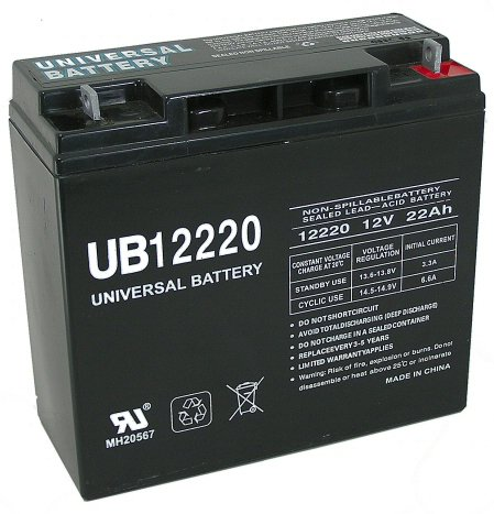 12V 22Ah SLA Battery Replaces CB19-12, ES1217, UB12200,