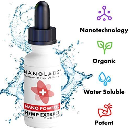 Hemp Oil Nano Extract Best Hemp Tincture with Nanotechnology - Hemp Extract Mood Skin Sleep Stress Anxiety Joint Pain Brain Function ( NO THC CBD ) (300mg)