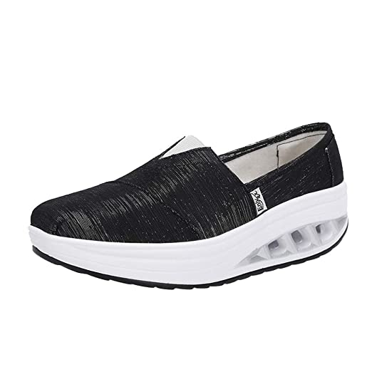 Clearance Women Air Cushion Sneakers Slip On Leisure Comfortable Lightweight  Shake Shoes Running Shoes fade746b999