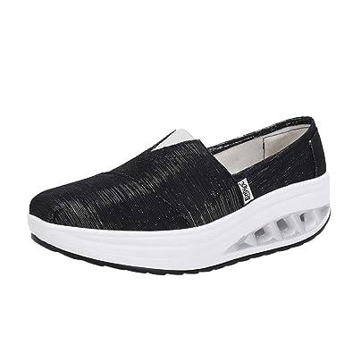 Tefamore Zapatos para Mujer Cuña Cómodos Mocasines Mesh Plataforma Zapatillas Sneaker Calzado Deportivo de Exterior de Mujer Zapatilla de Deporte: ...