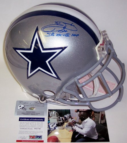 Emmitt Smith Autographed Hand Signed Dallas Cowboys Authentic Helmet - (Emmitt Smith Hand Signed)