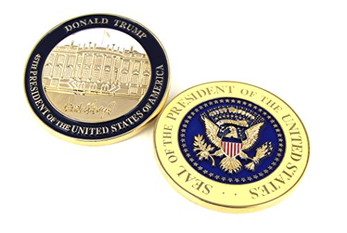 Donald Trump Inauguration Challenge Coin -LIMITED EDITION- Commemorate the 45th President of the United States - A Presidential Collector Item (States Flag Plastic United)