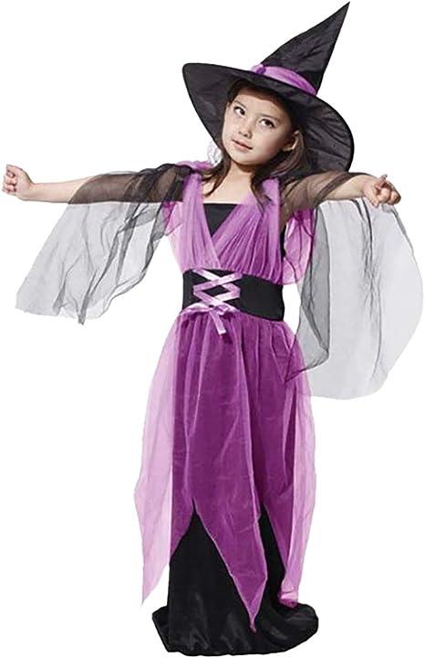 ShiyiUP Disfraces Vestido de Bruja Diablo para Niñas: Amazon.es ...
