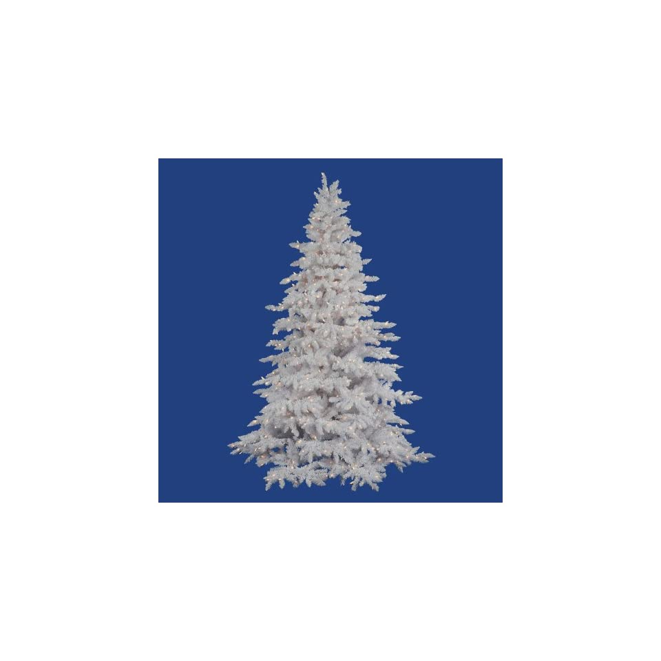 Flocked White Spruce 7.5 Artificial Christmas Tree with