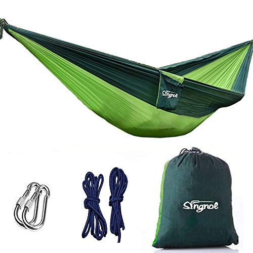 le Hammock with Tree Straps Outdoor Lightweight Parachute Portable Hammock Chair for Travel, Beach, Yard ()