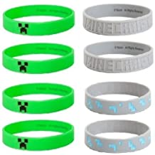 24 Minecraft Silicone Bracelets - Party Favor Bundle