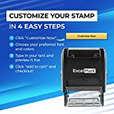 Custom Self-Inking Stamp - Up to 3 Lines - 11 Color Choices and 17 Font Choices