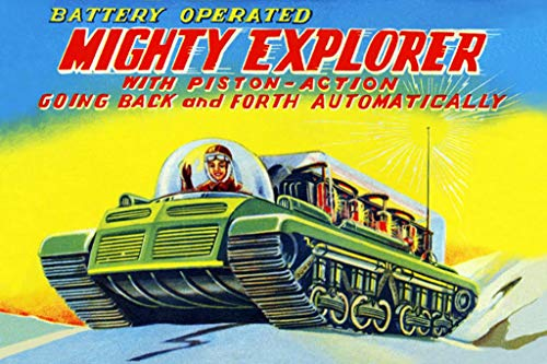 ArtParisienne Mighty Explorer with Piston Action 20x30-inch Canvas Print ()