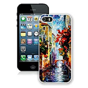 Beautiful Case For Iphone 4/4S Cover Case Popular Painting Venice Art Design Soft PC Hard White Cell Phone Cover Case For Iphone 4/4S Cover