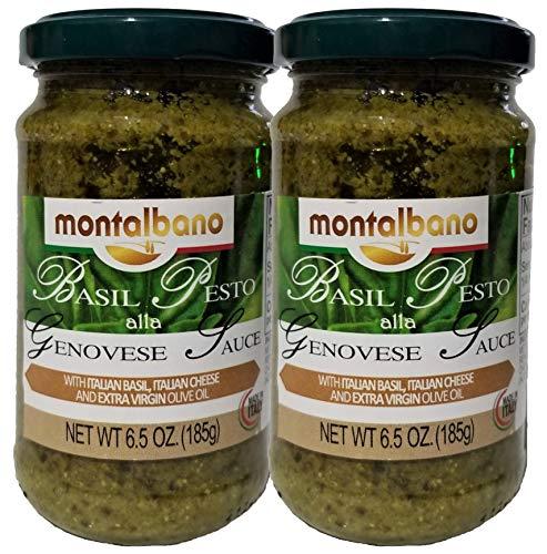 MONTALBANO ALLA GENOVESE BASIL PESTO SAUCE (2) PACK, MADE IN ITALY