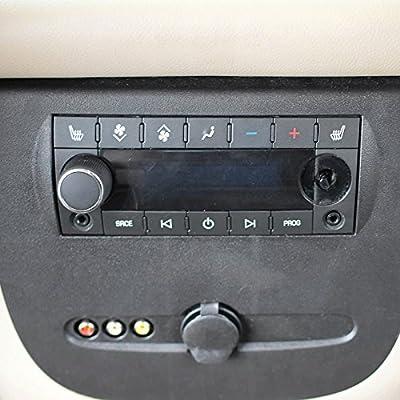 2 Rear Radio Volume Control Knob for 07-13 Compatible with Chevy GMC Chevrolet Silverado Sierra Yukon Cadillac Escalade Dial Tuner 2pc Pair Set: Automotive