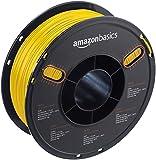 AmazonBasics PETG 3D Printer Filament, 1.75mm, Yellow, 1 kg Spool