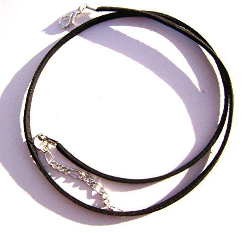 1pcs Cord Necklace Choker Faux Vegan Leather Suede Black 16
