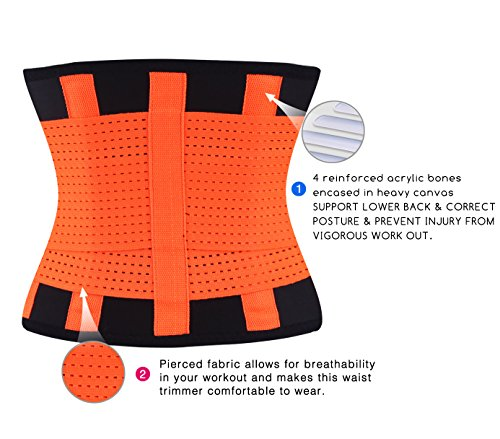 a30d0c40fb fitglam Waist Trainer Corset for Weight Loss Workout Waist Trimmer Cincher  Ab Belt Postpartum Girdle Hourglass Body Shaper  Amazon.co.uk  Clothing