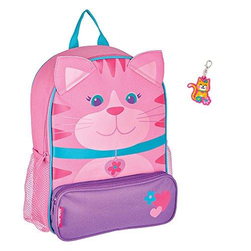 Stephen Joseph Toddler Backpacks - Stephen Joseph Sidekick Girl Cat Backpack with Zipper Pull - Cute Kids Book Bags