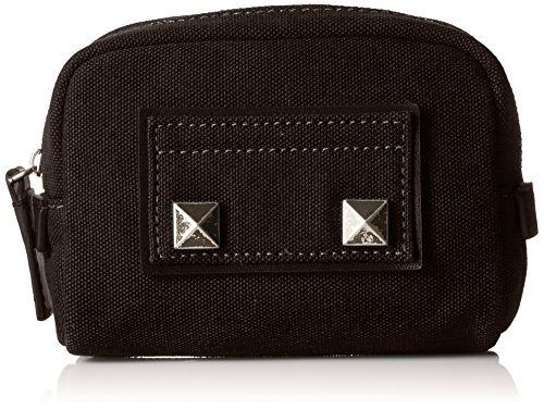 Marc Jacobs Small Canvas Chipped Studs Cosmetics Case, Black by Marc Jacobs