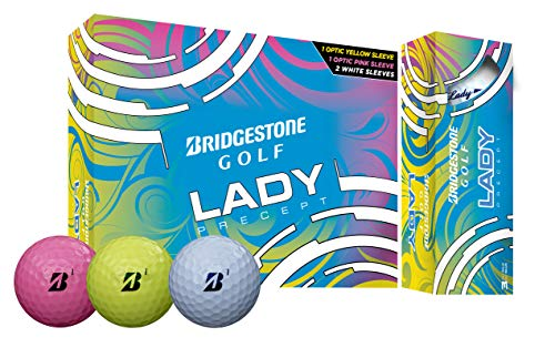 Bridgestone Lady Golf Balls - 1 Dozen (3 Yellow, 3 Pink, 6 White)